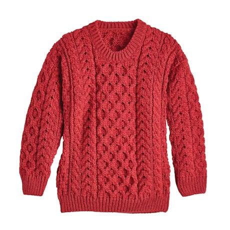 Kids' Aran Pullover Sweater