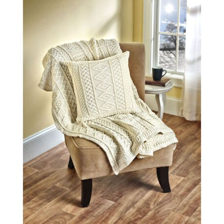Plated Aran Throw