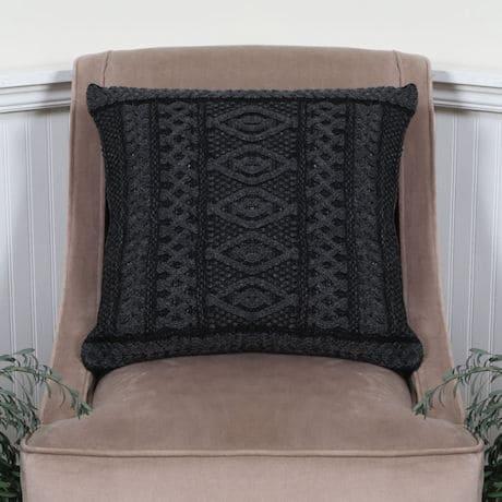 Plated Aran Cushion Cover