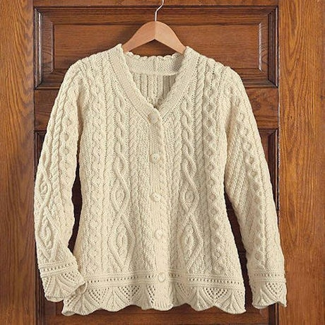 County Kildare Cardigan - Kelly Green
