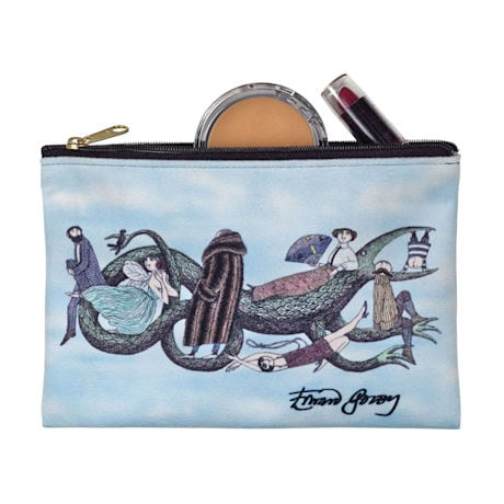 Edward Gorey Zipper Pouches - Dragon