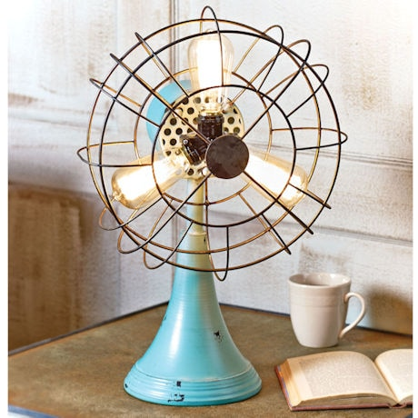 Metal Fan Accent Lamp