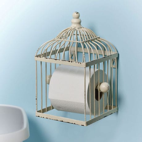 Bird Cage Toilet Paper Holder