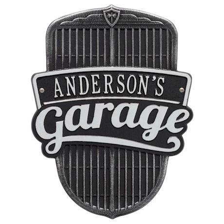 Personalized Car Grille Garage Plaque