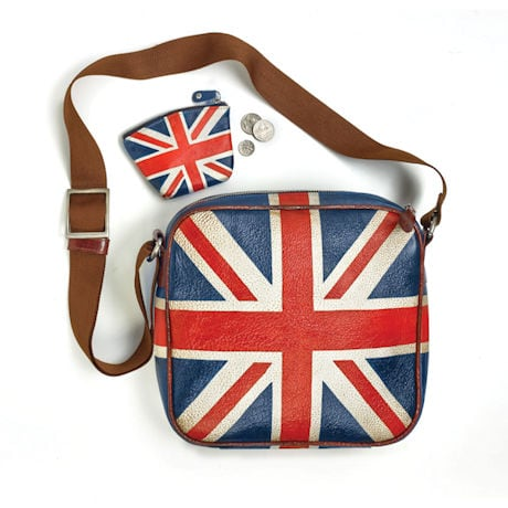 Hand-Painted Leather Union Jack Bag