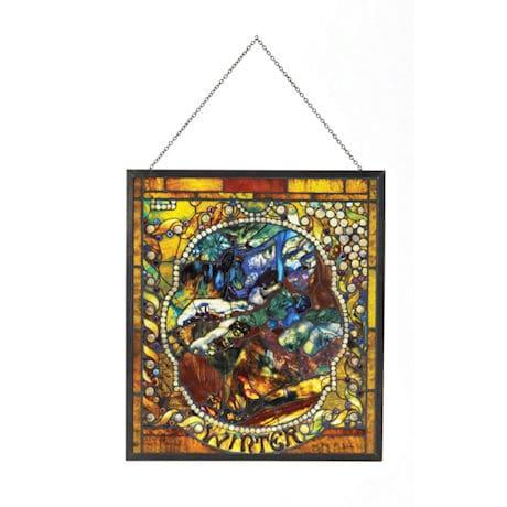 Tiffany Four Seasons Art Glass Panels