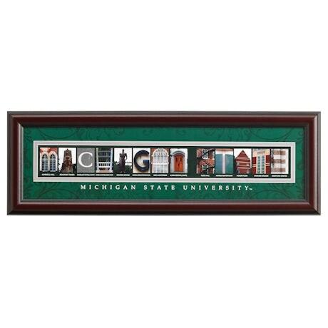 Campus Letter Art - Premium Frame