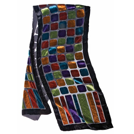 Stained Glass Velvet Scarf