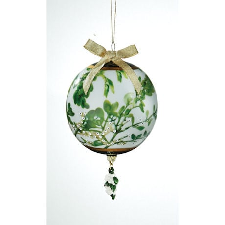 Porcelain Mistletoe Kissing Ball