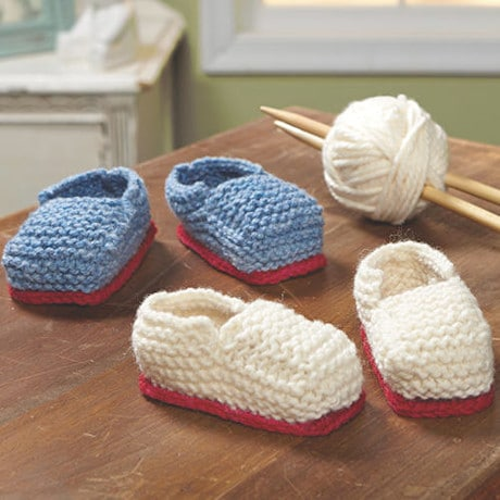 Hand- Knit Baby Booties