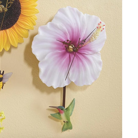 Flower Pendulum Clocks