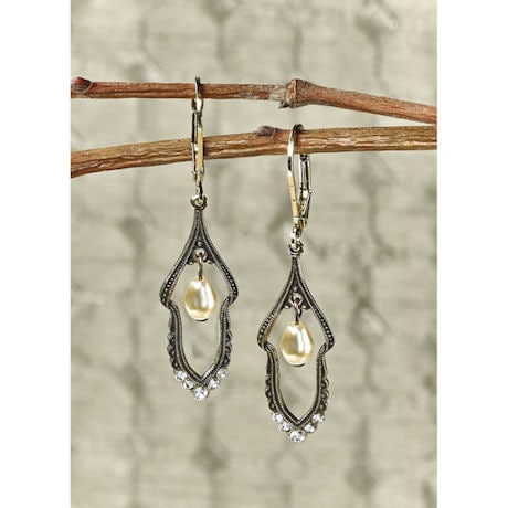 Edwardian Pearl Drop Earrings