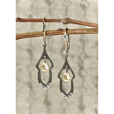 Edwardian Pearl Drop Earrings
