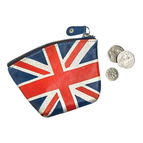Hand-Painted Leather Union Jack Coin Purse