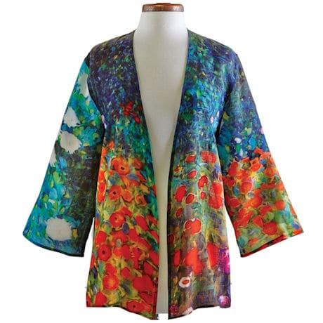 Gustav Klimt Farm Garden Wool Jacket