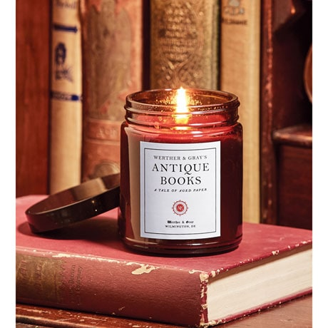 Antique Books Candle