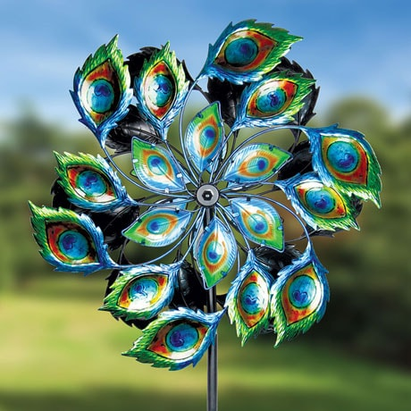 Giant Peacock Garden Spinner