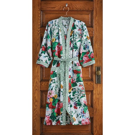Kimono Style Cottage Garden Robe with Belt