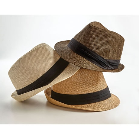 Men's Straw Summer Fedora