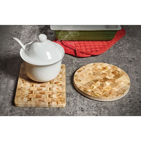 Aromatic Juniper Wood Trivet - Round