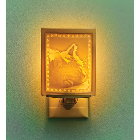 Kitten Dreams Lithophane Night Light
