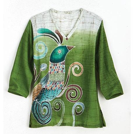 Batiked Peacock Tunic