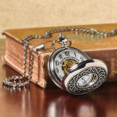 Celtic Pocket Skeleton Watch