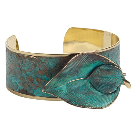 Sculptural Leaves Cuff Bracelet
