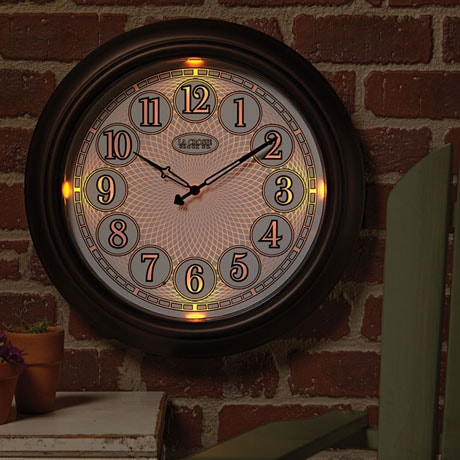 Indoor Outdoor Lighted Wall Clock 1 Review 5 Stars