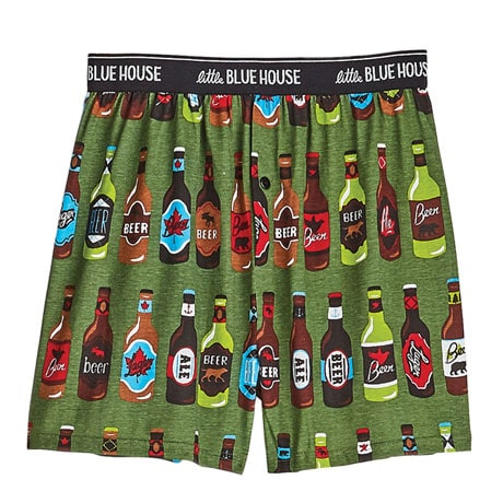 Beer Bottles and Fishing Lures Boxers