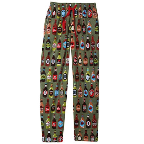 Beer Bottles and Fishing Lures Pajama Pants