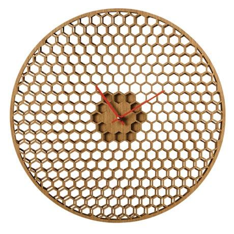 Spinning Honeycomb Wall Clock
