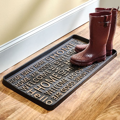 Hello Good-Bye Rubber Boot Tray