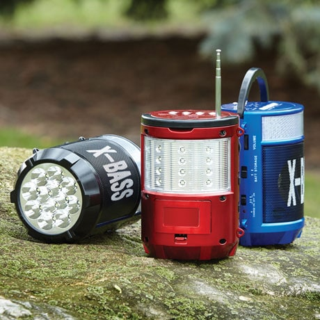 X-Bass Portable Bluetooth FM Radio with Lantern