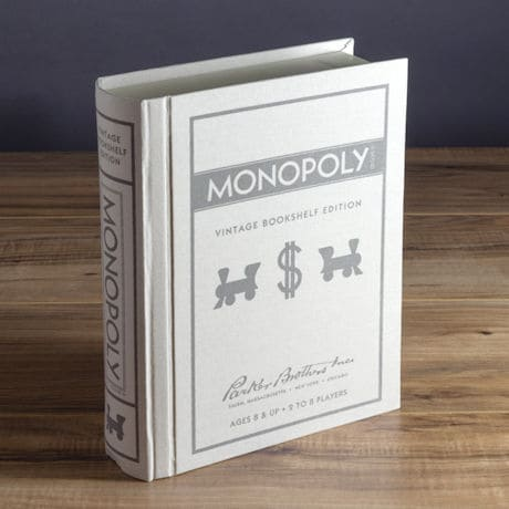 Vintage Bookshelf Board Games: Monopoly