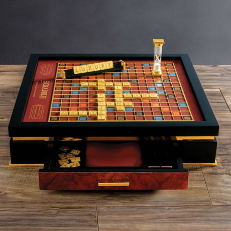 18K Gold-Plated Luxury Scrabble