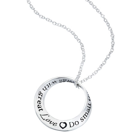 Mother Teresa Mobius Necklace