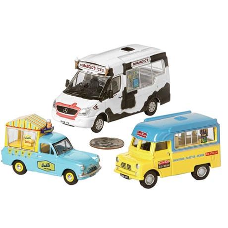 Vintage British Ice Cream Trucks: Dimascio's (cow graphics)