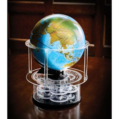 Night and Day Real Solar Time Rotating Globe