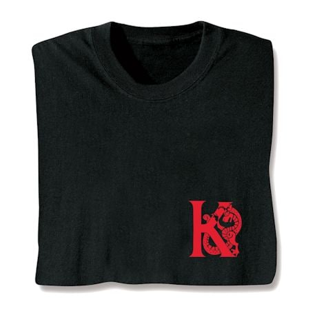 Dragon Alphabet Initial Shirts