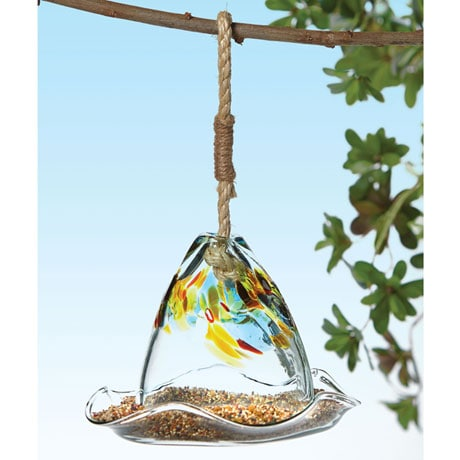 Art Glass Bird Feeder