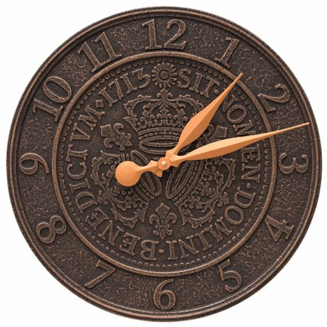 Three Crowns Coin Outdoor Wall Clock