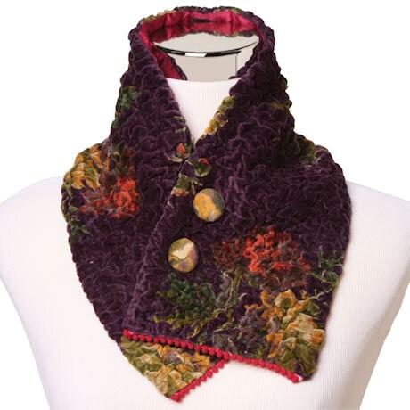 Lush Ruched Velvet Collar Wrap