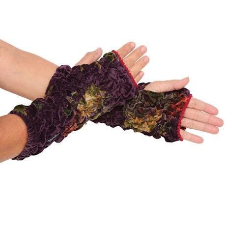 Lush Ruched Velvet Cuffs