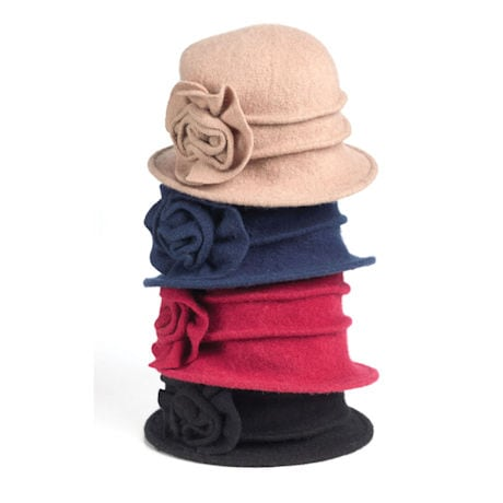Wool Big Blossom Hat