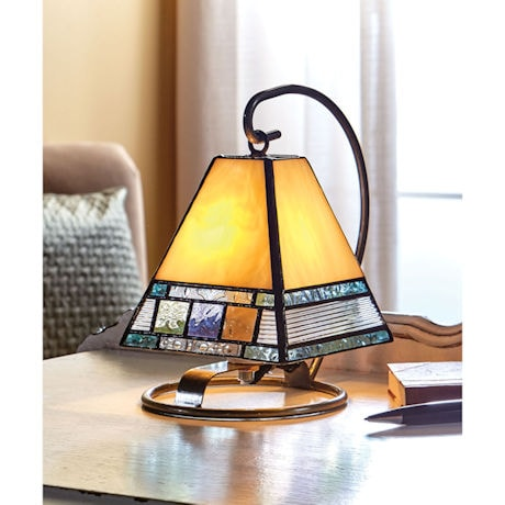 Banded Art Glass Accent Lamp