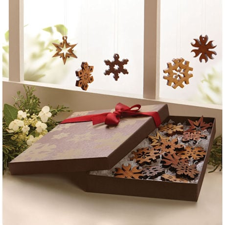 Wood Snowflake Ornaments Gift Set