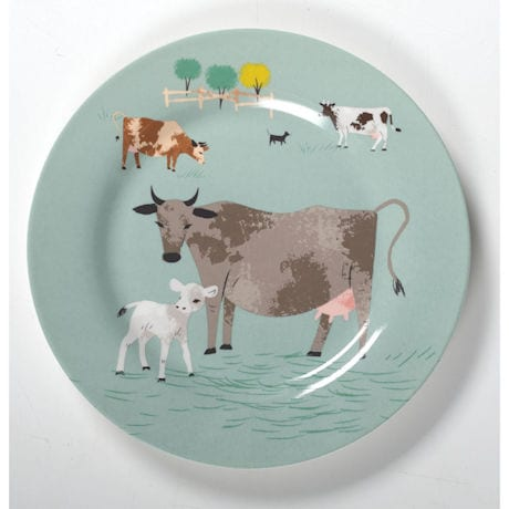 Farm Animal Plates Set