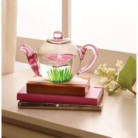 Glow-in-the-Dark Butterfly Teapot Paperweight