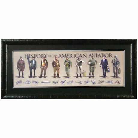 History of the American Aviator Print: Framed